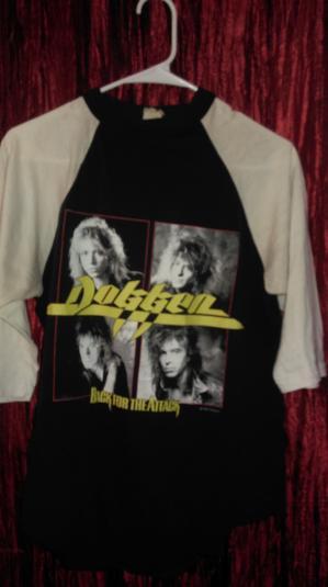 Dokken 1987 Back for the Attack Tour 3/4 sleeve Vintage T