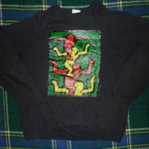 rare vtg 1980s keith haring sweatshirt pop art