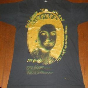 70s 80s vtg sex pistols god save the queen t-shirt