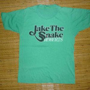 VINTAGE JAKE THE SNAKE ROBERTS WWF T-SHIRT
