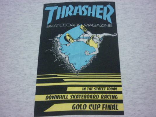vtg thrasher first cover skateboard t-shirt