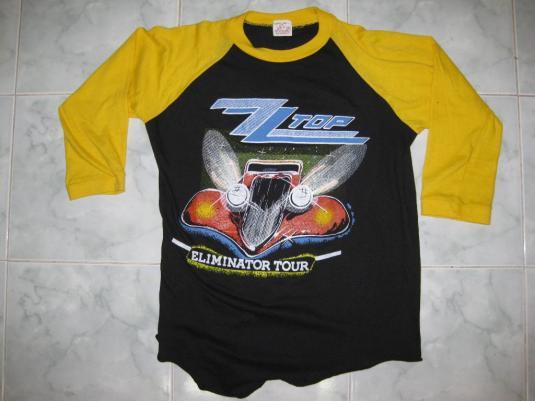 80s Vintage ZZ Top Eliminator Tour Bootleg Jersey T-Shirt