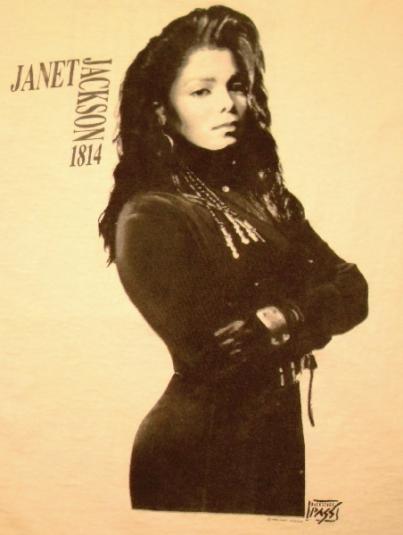 Janet Jackson 1990 Rhythm Nation World Tour Vintage Tshirt