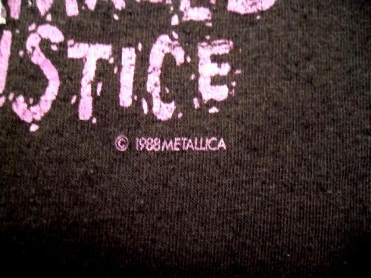 Metallica 1988/89 Damaged Justice Tour Vintage T-shirt