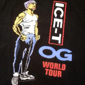 ICE-T/ BODYCOUNT 1991 World tour Vintage t-shirt