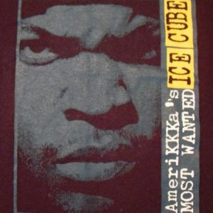 Ice Cube 1990 AMERIKKKA'S Most Wanted vintage T-shirt