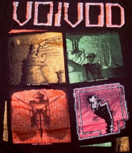 VoiVod 1989 NothingFace Tour Vintage T-shirt