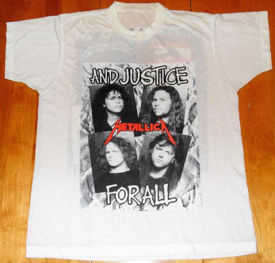 Metallica 1988/89 And Justice For All Vintage T-shirt