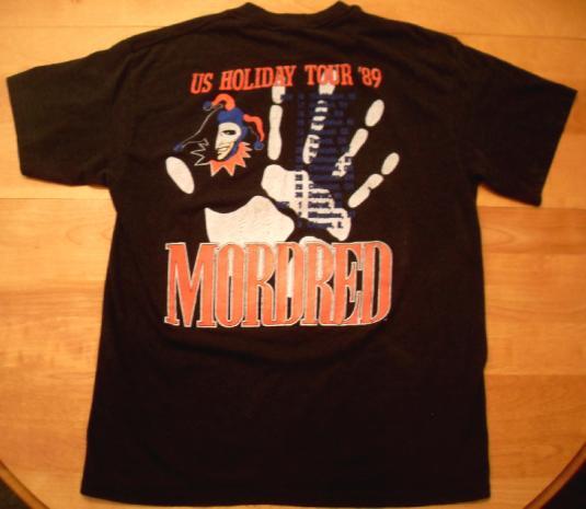Mordred 1989 US Holiday Tour Vintage T-shirt