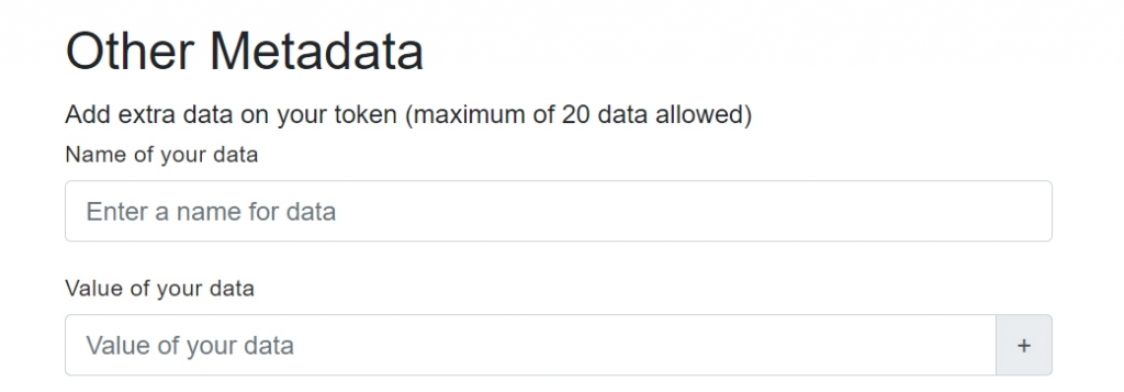 What Does other metadata mean?