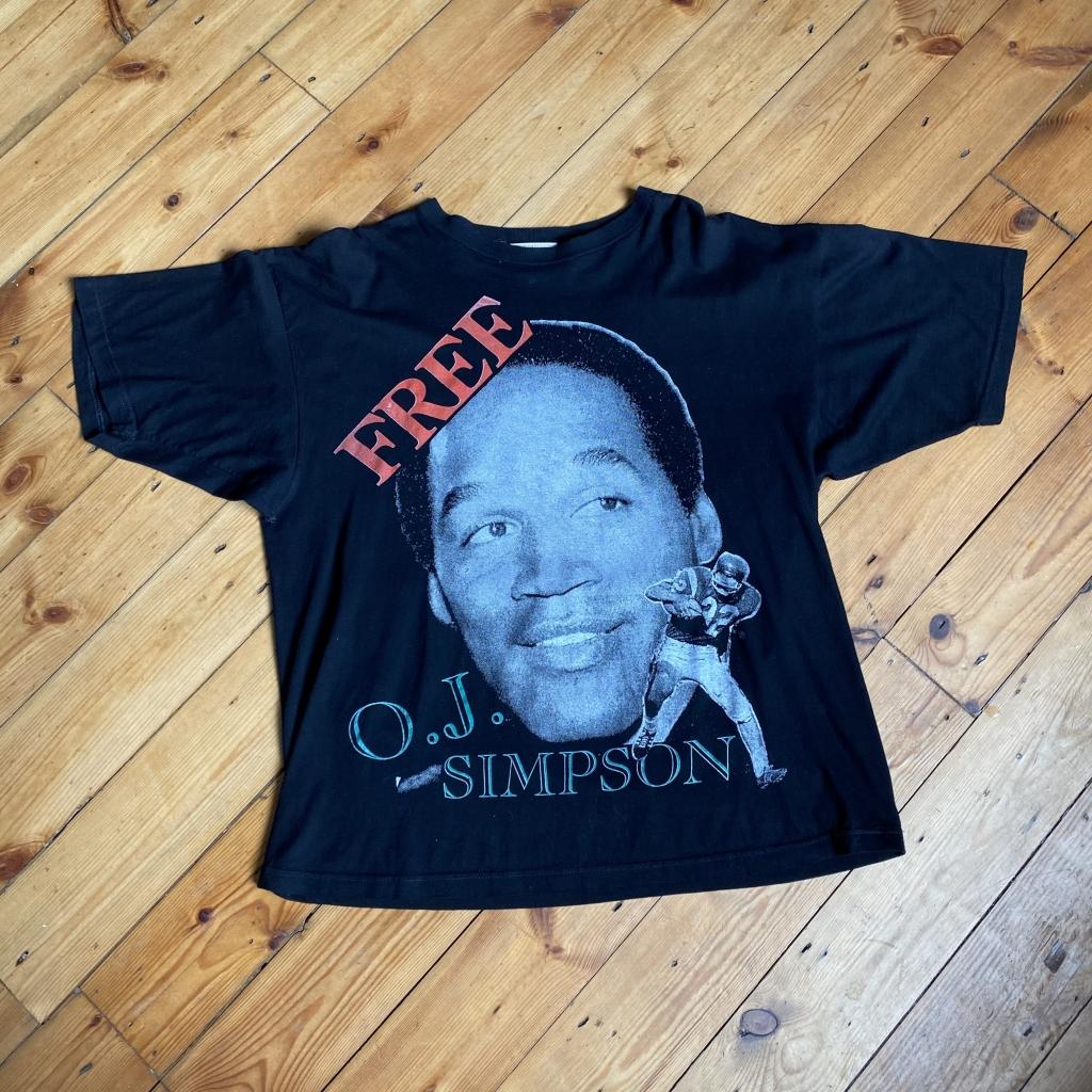 Vintage Free OJ Simpson T-Shirt Front