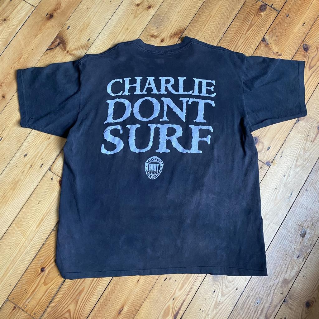 Vintage Charlie Don't Surf T-Shirt Rear