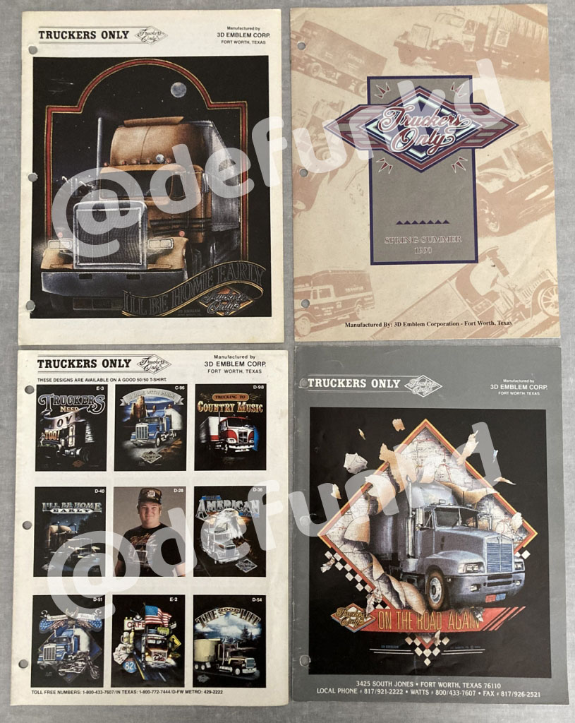 Truckers Only T-Shirt Catalog