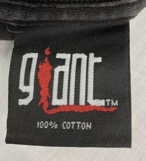 plain giant 100% cotton tag