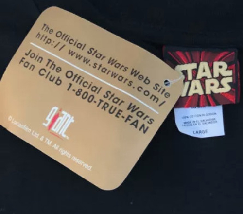 Giant Star Wars Lucasfilm Tag Hang Card
