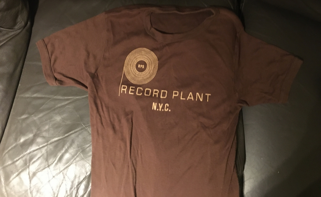 Vintage 1970s Record Plant NYC Brown T-Shirt