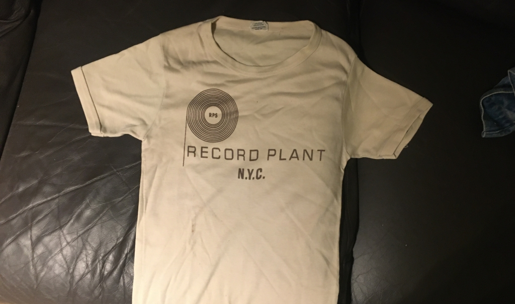 Vintage 1970s Record Plant NYC White T-Shirt
