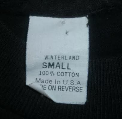 Winterland Generic 100% Cotton Tag