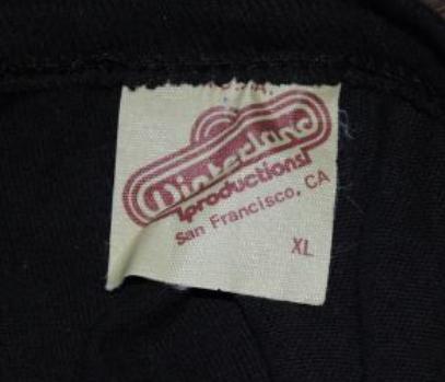 Winterland Productions San Francisco CA Tag