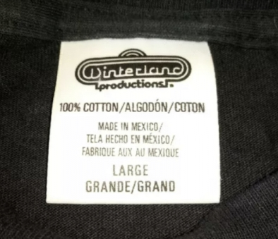 Winterland Productions Made in Mexico Tag