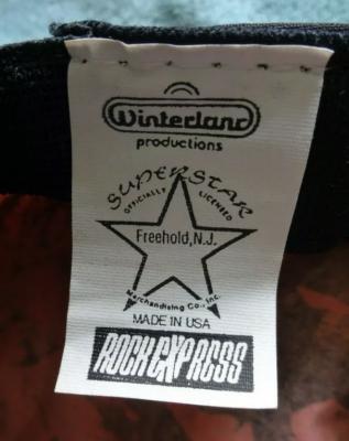 Winterland Superstar Rock Express Freehold NJ Tag