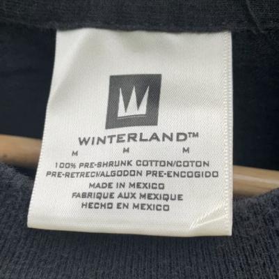 Winterland Pre-Shrunk Cotton Made in Mexico Tag