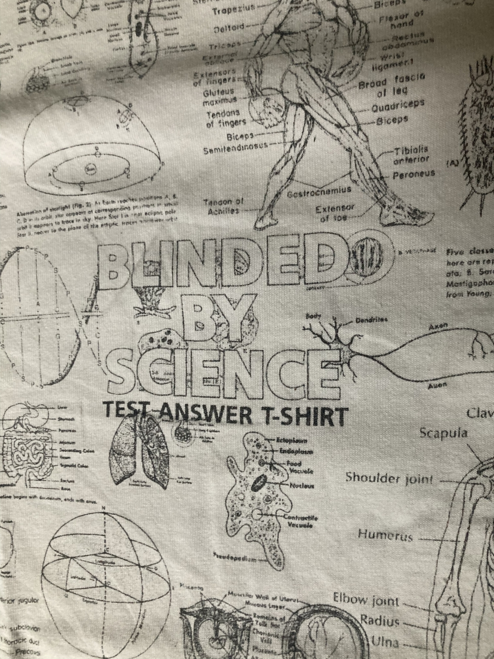 Close up Blinded By Science Test T-Shirt