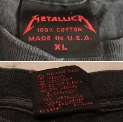 Metallica tag Under Licence to Brockum