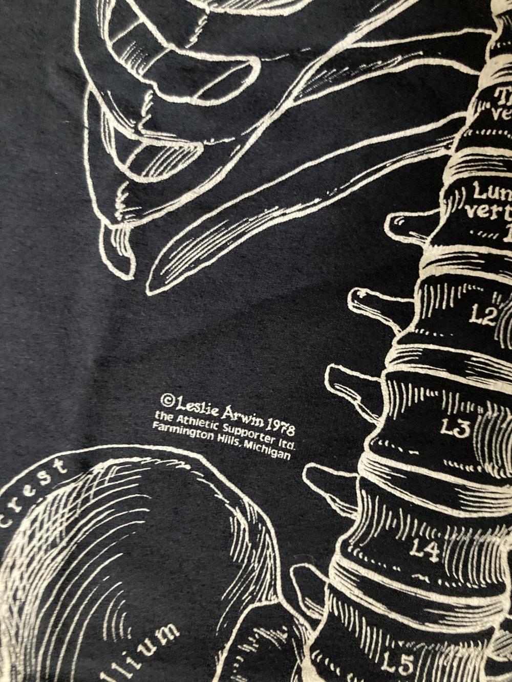 Leslie Arwin Skeleton T-Shirt Close up 1978