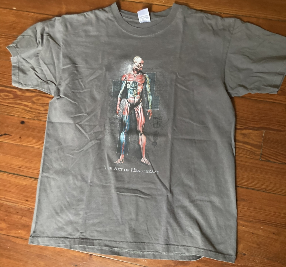 vintage the art of healthcare t-shirt