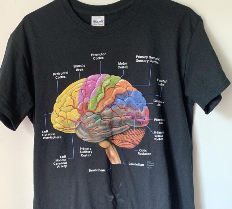 vintage wild creations brain t-shirt
