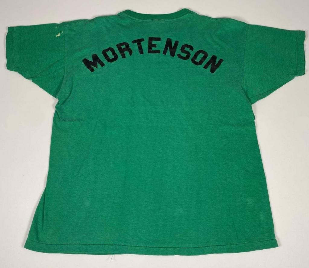 Green 1972 Nike Swoosh Olympic Trials T-Shirt Back Mortenson