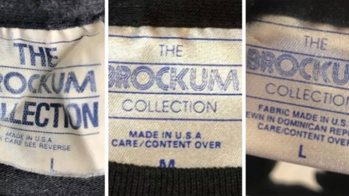 History of the vintage brockum t-shirt tag