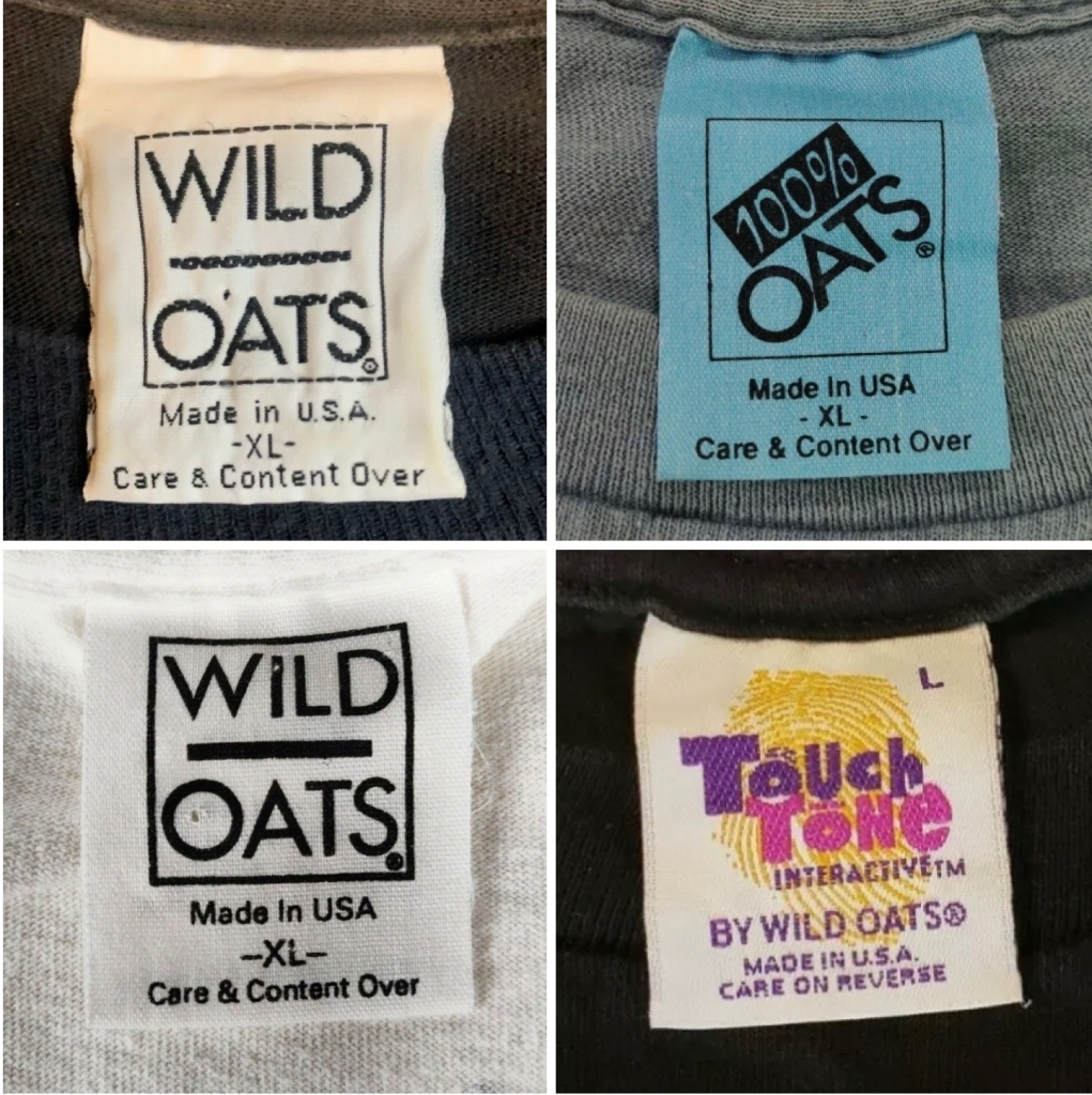 Wild Oats Tags 1990s 100% OATS and Touch Tone Interactive Tags