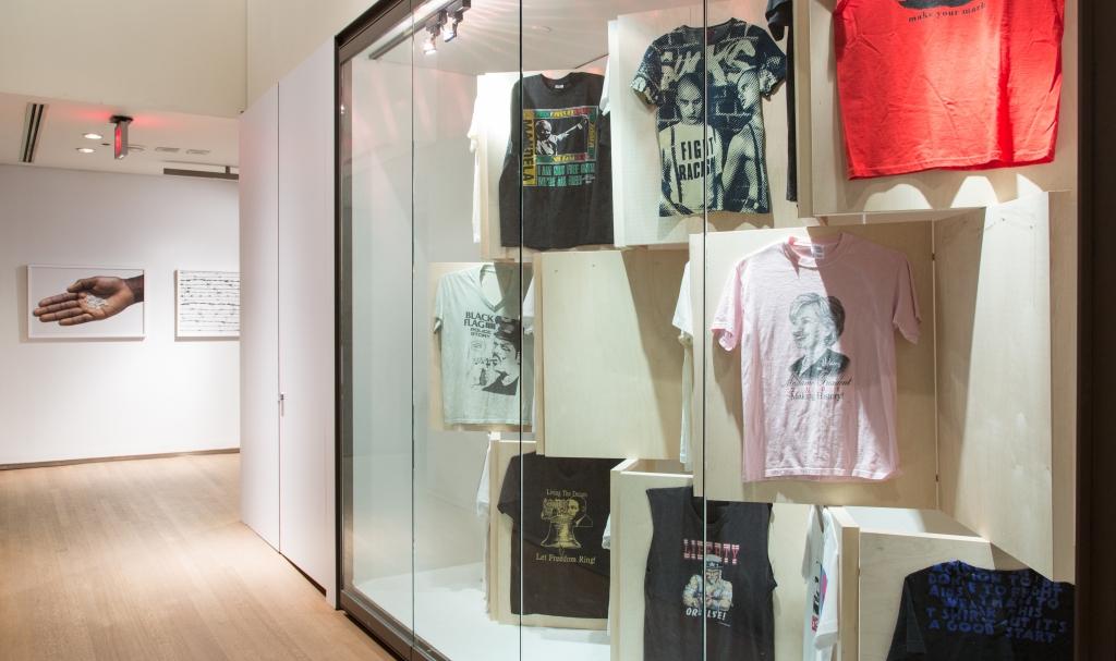 Design Exchange Politics of Fashion T-Shirt Display