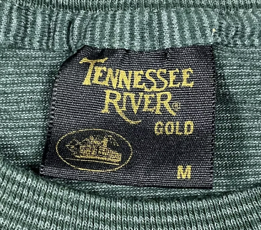 Vintage Tennessee River Gold Steamboat T-Shirt Black Tag 1980s