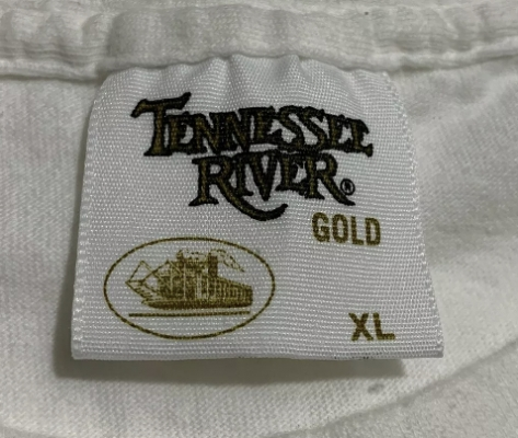 Vintage Tennessee River Gold Steamboat T-Shirt Tag 1980s