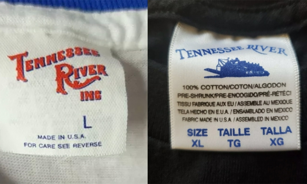 History of Tennessee River T-Shirt Tag