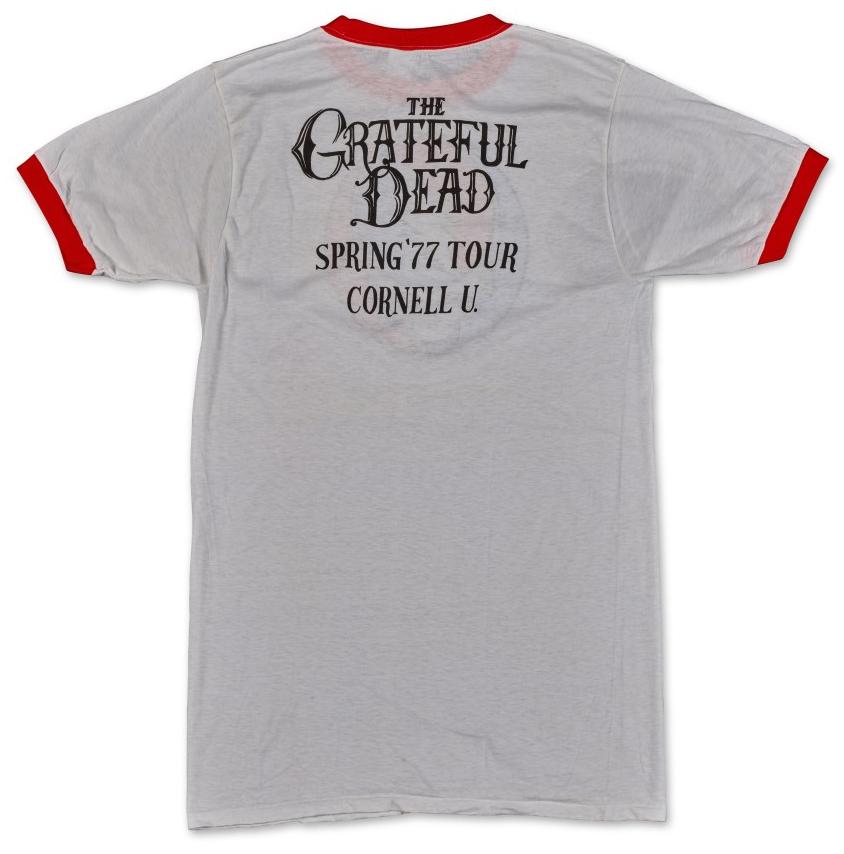 Vintage Grateful Dead Spring 1977 tour shirt Cornell Back